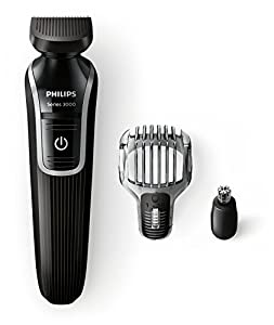 Philips MultiGroom QG3320/15 - Recortador de barba y precisión 3 en 1 resistente al agua con 18 longitudes ajustables (1-18 mm)