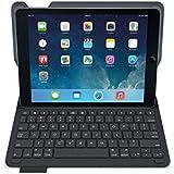 Logitech Type+ Schutzcase mit integrierter Bluetooth Tastatur (QWERTZ) für iPad Air schwarz