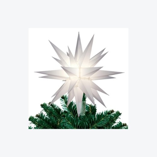 12″ Lighted White Moravian Star Christmas Tree