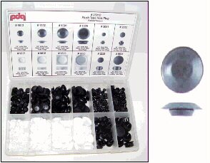 Flush Type Hole Plug Assortment. 1/4 to 3/4 inch. Contains 349 pieces.
