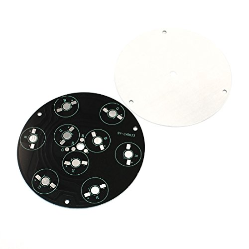 1W/3W High Power Rgb 9Leds Aluminum Pcb Circuit Board Diy 10Cm 2Pcs