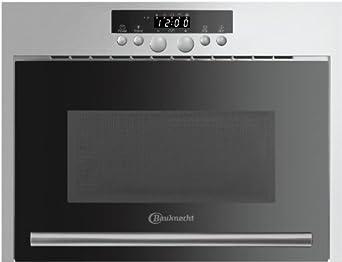 bauknecht emw 8538 in einbau mikrowelle 22 l 750 w edelstahl 3d system rapid defrost. Black Bedroom Furniture Sets. Home Design Ideas