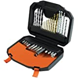BLACK+DECKER A7183 Titanium Drilling and Screwdriver Bit Accessory Set (30 Pieces)