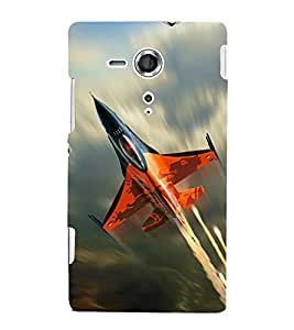 printtech Superfast Plane Jet Sky Back Case Cover for Sony Xperia SP::Sony Xperia SP M35h