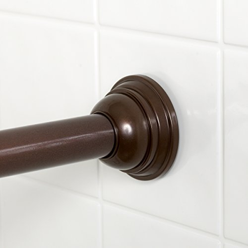 Zenna Home 775rb Tension Shower Curtain Rod 43 To 72 Inch Oil Rubbed Bronze