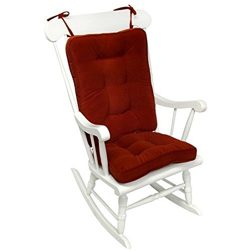 Greendale Home Fashions Standard Rocking Chair Cushion Hyatt Fabric Scarlet