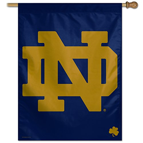 "NCAA Notre Dame Fighting Irish Official Vertical Flag, 27 x 37"", Multicolor"