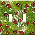 Art Plates - Ladybugs and Leaves Switch Plate - Single Toggle