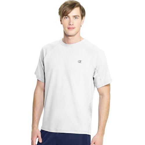 Champion Men's Powertrain Performance T-Shirt, White, X-Large