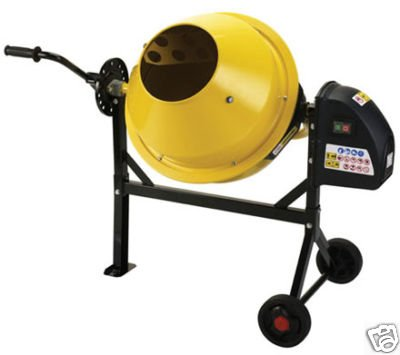 NEW TIYA PORTABLE 63L 230V CEMENT CONCRETE MIXER INC VAT