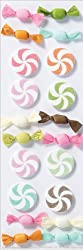 Martha Stewart Crafts Stickers, Candy Pom Poms