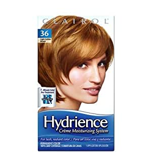 Clairol Hydrience Haircolor, 36 light golden brown  1 ea