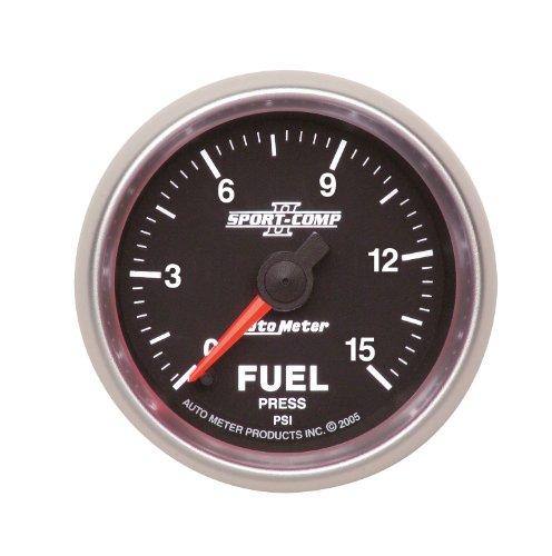 "Autometer Sport-Comp 2-1//16/"" Boost 0-15 PSI Mechanical Gauge"