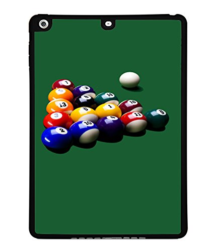 Pool Table Black Silicone Case For Apple Ipad Air front-1053539