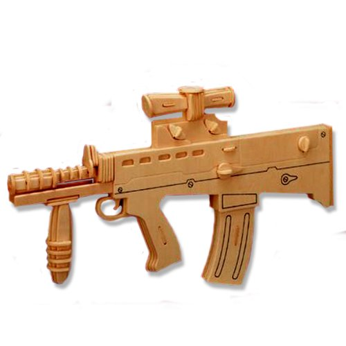 3-D Wooden Puzzle - Carbine L85A1 Model -Affordable Gift for your Little One! Item #DCHI-WPZ-P111