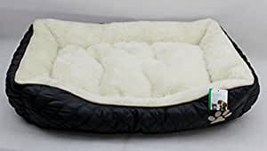 Dog Bed Deluxe , Luxury Rectangle Cussion In Soft Fleece - Large