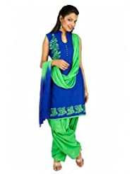 Fashiontra Women's Cotton Straight Cut Salwar Suit - B00KNW2DPA
