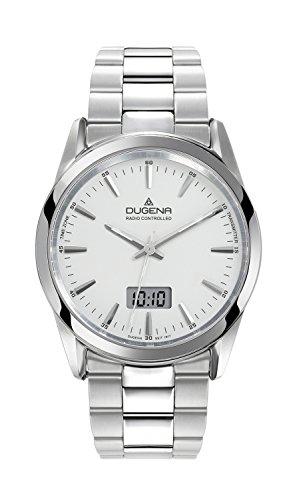 Dugena 4460473 - Reloj analógico para hombre con correa de acero inoxidable, color plateado
