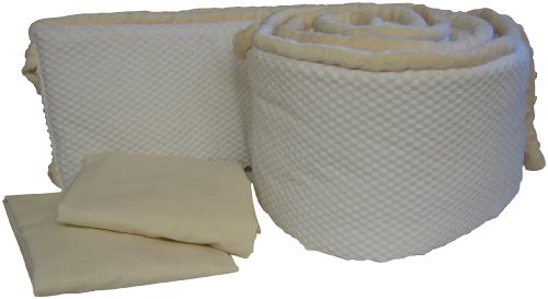 Baby Doll Bedding Diamond Velvetine Grandmas Port-a-Crib Package, Ecru