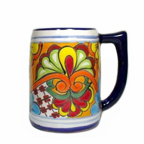 Talavera Extra Large Mug, Assorted Colors and Paint Patterns