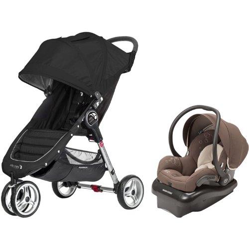 Baby Jogger City Mini & Mico Ap Travel System (Black/Milk Chocolate) front-794549