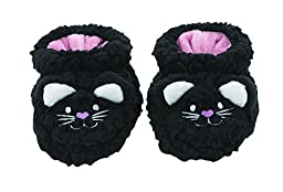 Baby Snoozies Plush Sherpa Animal Booties Cat Small (0-3 Months)