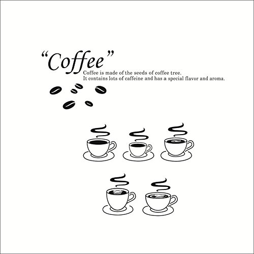 Xmas Gift-Elegant Removable Kitchen Living Room Coffee Cups Wall Sticker Mural Decal Art Decorative