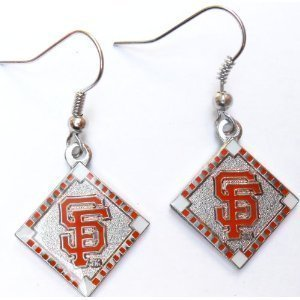 San Francisco Giants MLB Diamond Style Dangle Earrings