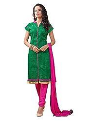 DnVeens Green Salwar Suits Women Dress Material
