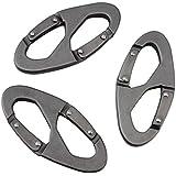 eBus Zinc Stainless Steel Carabiner Spring Snap Link Hook Multi function climbing hook