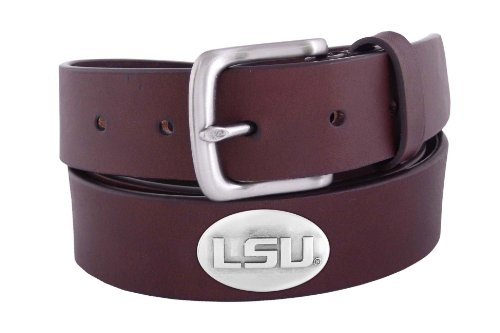 NCAA Lsu Tigers Brown Leather Concho Belt, 36