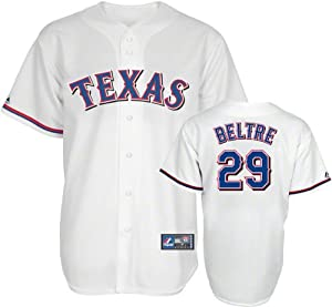 MLB Texas Rangers Adrian Beltre White Home Replica Baseball Jersey, White by Majestic