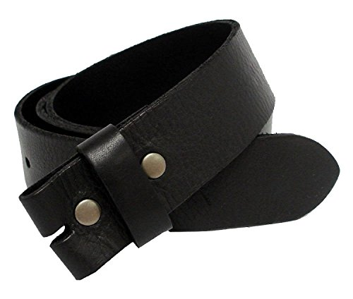 "BS-40 Vintage Full Grain Leather Belt Strap 1 1/2"" Wide (34, Black)"