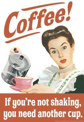 Coffee If You'Re Not Shaking You Need Another Cup Funny Poster - 24X36 Custom Fit With Richandframous Black 24 Inch Poster Hangers