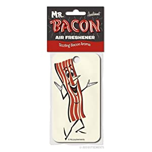 Mr. Bacon Car Room Air Refreshener Sizzling Bacon Aroma Gag Novelty Gift New