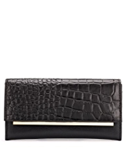 Autograph Leather Crocodile Skin Design Purse