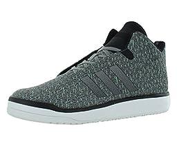 Adidas Veritas Mid Weave Men\'s Sneakers Size US 10.5, Regular Width, Color Gray/Black/Green