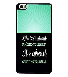 PrintVisa Metal Printed Quotes Designer Back Case Cover for Xiaomi Mi5-D4953