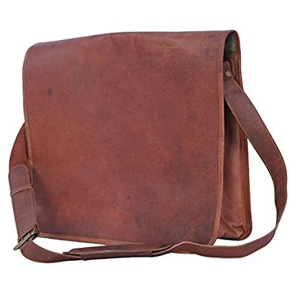 Passion Leather Vintage 14 Inch Leather Messenger ...