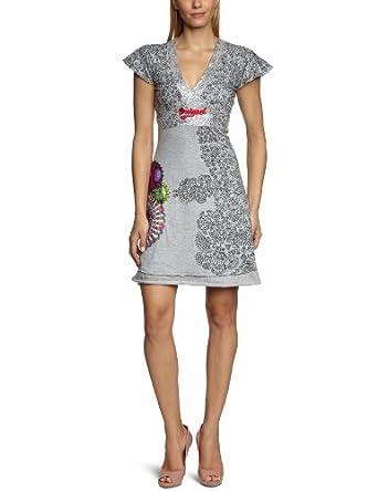Desigual - Robe - Femme - Gris (2042 Gris Vigore Claro) - S
