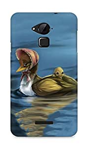 Amez designer printed 3d premium high quality back case cover for Coolpad Note 3 (Painting oil cartoon lovely little duck water art)