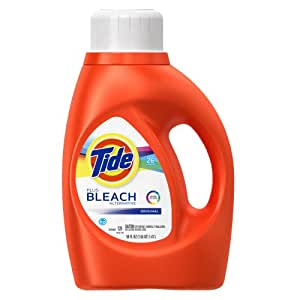 Tide Plus Bleach HE Turbo Clean Liquid Laundry Detergent,  50 Fl Oz, 26 Loads (Pack of 2)