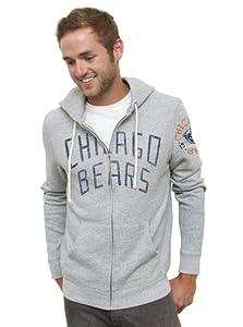 (史低)美橄榄球队男士带帽卫衣 NFL Chicago Bears Zip Hoodie $28.22