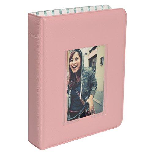 Polaroid 64-Pocket Photo Album w/Window Cover For 2x3 Photo Paper (Snap, Zip, Z2300) - Pink