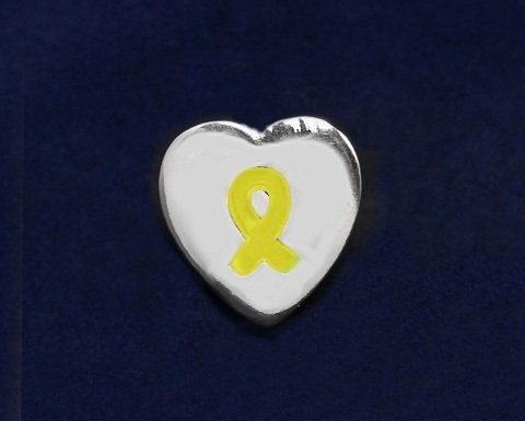 Yellow Ribbon Pin-Heart Tac Pin (50 Pins)