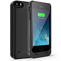 Maxboost Ambrosia iPhone 5S Battery Case / iPhone 5 Battery Case [Matte Black / Black] - 2400mAh External Protective Battery Charger Case Extended Backup Power Pack Cover Case Fit with Any Version of Apple iPhone 5 5S (Apple MFI Certified, Lightning Connector Output, MicroUSB Cable Input)[100% Compatible with iPhone 5/5S on IOS7.0+]