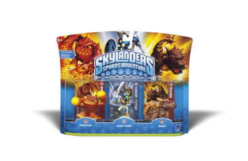 Skylanders Spyros Adventure Triple Character Pack (Eruptor, Chop Chop, Bash)