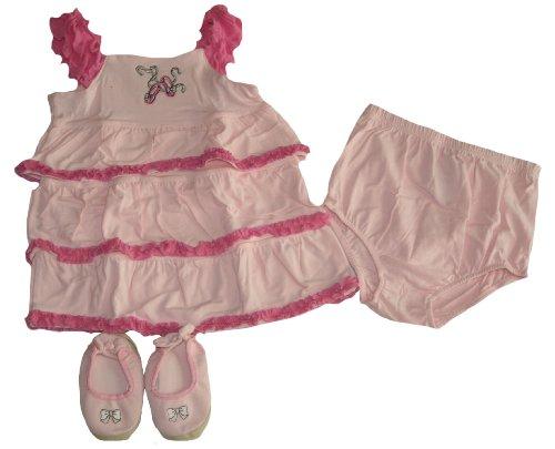 Vitamins Kids Girl'S 3Pc Clothing Set (24 Months, Pink)