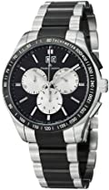 Maurice Lacroix Miros Chronograph Black Dial Stainless Steel Mens Watch MI1028-SS002331