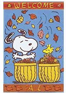 "Welcome Fall Snoopy Garden Flag - 12""x18"""
